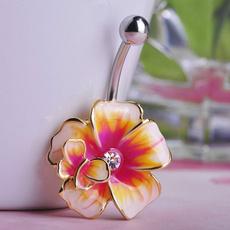 Flowers, Jewelry, piercingjewelry, bellyring
