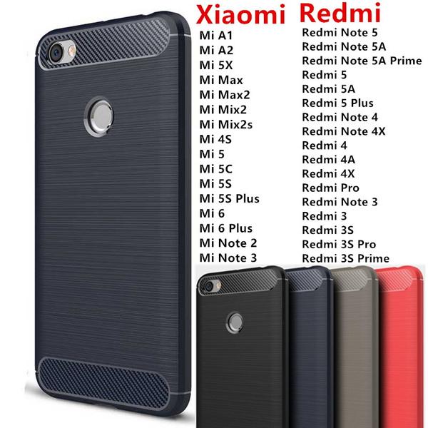 Carbon Fiber Phone Cases For Xiaomi Redmi Note5 A , Redmi Note 5A ...