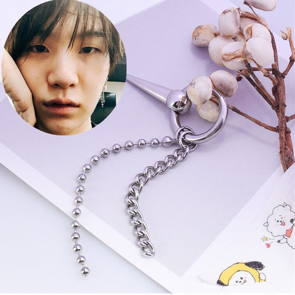 3463ff2be6128 1Pc KPOP BTS SUGA Earrings Bangtan Boys Earring BTS Accessories Gift