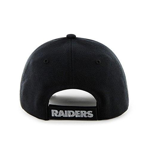 47 Oakland Raiders Hat NFL Authentic Brand MVP Adjustable Velcroback Black Football Cap Adult One Size Men /& Women 85/% Acrylic,15/% Wool