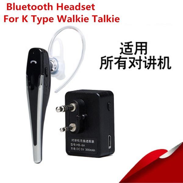 Walkie Talkie Hands Free Bluetooth Headset K Type Earphone Handheld Two Way Radio Wireless Headphones For Baofeng Wish