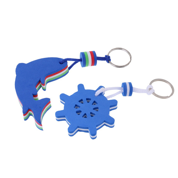 Novelty Floating Boating Keychain Yachting Sailing Key Chain Fobs Floats