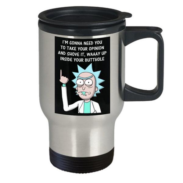 070f2964217 Take your opinion and shove it mug - 16oz (travel) rick and morty coffee  cup - rick and morty mug - rick and morty coffee mug