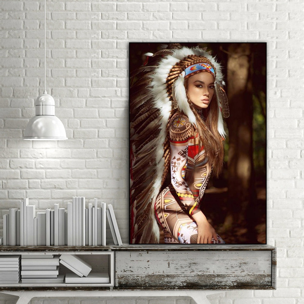 Y Feathered Native American