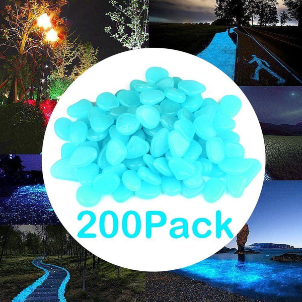 200X Glow in the Dark Stone Pebble rock pour Fish Tank Aquarium Garden Road decor Décorations Aquariophilie, bassins, mares
