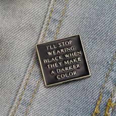 Addams  Enamek  Pins Cominc Brooch  Collar  Pin  Jacket  Coat  Clothing Decor