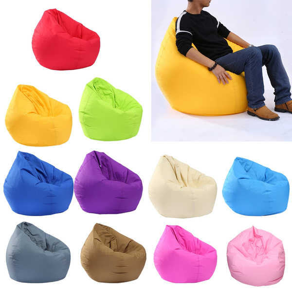 Peachy Waterproof Bean Bag Cover Without Filling Stuffed Animal Holder Pabps2019 Chair Design Images Pabps2019Com