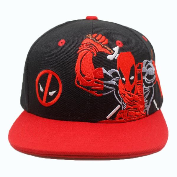 05070b0c3bdc72 Deadpool Baseball Cap New Fashion Men and Women Cartoons Cosplay Funny Cap  Hip Hop Caps Casual Snapback Hat