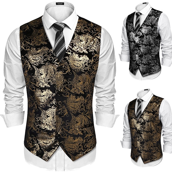 party, Vest, Flowers, Waist Coat