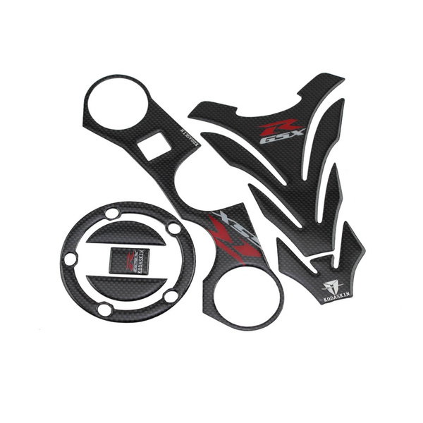 Real Carbon GSXR Gas Cap Tank Pad Triple Tree Front End Upper Top Clamp  Decal Stickers Tank Pad Protector for GSXR600 GSXR750 GSXR1000 GSXR 600  GSXR