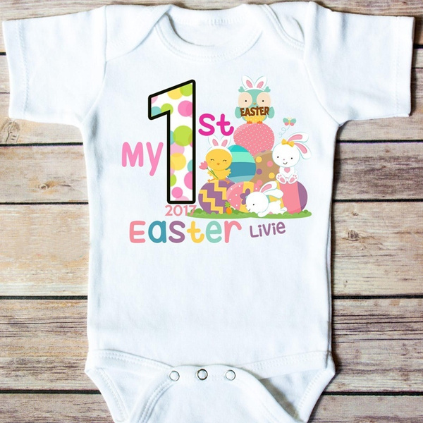 d42f03935 My 1st Easter Outfit Boy or Girl Baby Easter Outfit Easter Bunny Bodysuit |  Wish