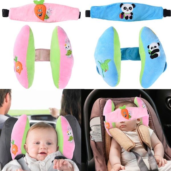 2 In 1 Car Seat Baby Protection Pillow Infant Head Support Newborn Head Supporting Pillows With Blindfold Suitable For Baby Aged Between 0 To 3 Years