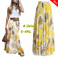 Summer, long skirt, summer skirt, high waist