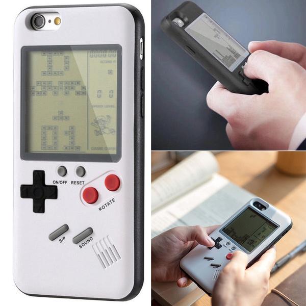 san francisco c9f73 2a0d9 Retro Tetris Nintendo Gameboy Console Phone Case Cover for iPhone X 8 Plus  7 6S