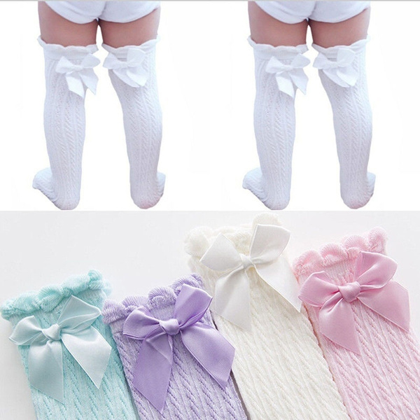 Lace, Winter, Socks, Bow