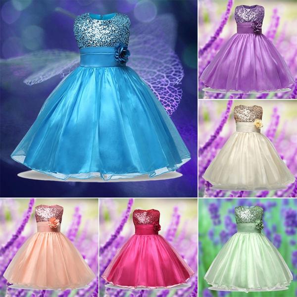 5ef363b6d344c New Style SEVENPANDAS-L607 Lace Sequins Formal Evening Wedding Gown Tutu  Princess Dress Flower Girls Children Clothing Kids Party Dress for Girl ...