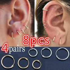 Hoop Earring, Jewelry, Gifts, Simple