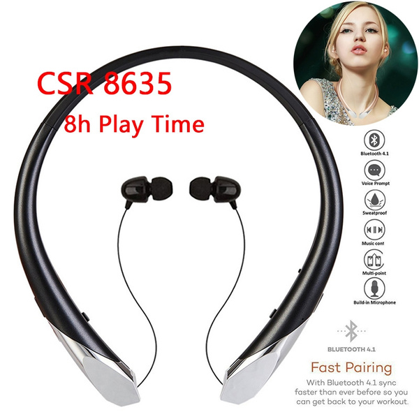 New Bluetooth Headphones Csr8635 Bluetooth V4 1 Sports Wireless Headset With Mic For Phone Wish