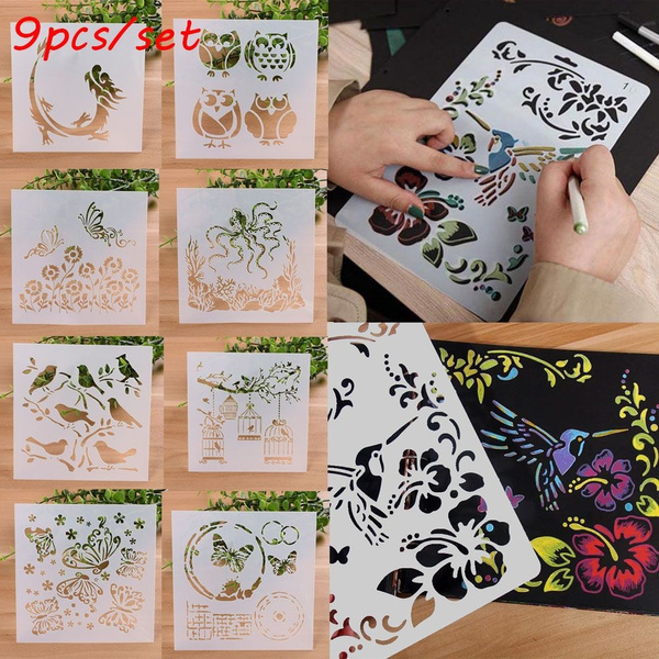 stencil, Scrapbooking, Stamps, painting