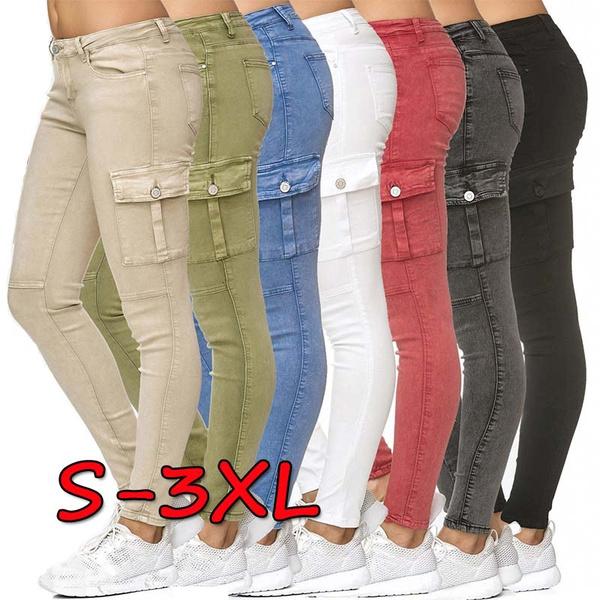 Women Pants, pencil, Plus Size, Waist