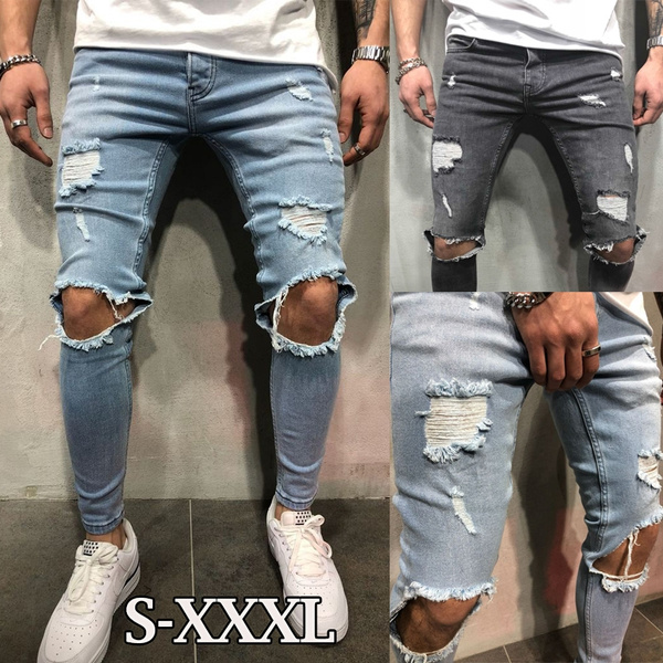 men jeans, Fashion, pants, rippedjean