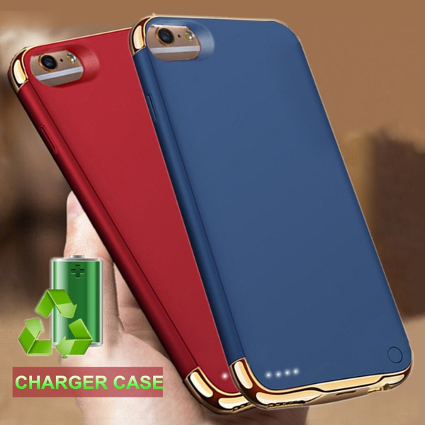 Portable Backup External Battery Charger Case For iPhone XS MAX XR Power  Bank Pack Charging Cases Cover For iPhone X 8 Plus iPhone 7 Plus 6 6S Plus