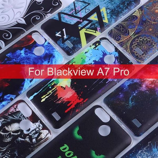 For Blackview A7 Pro Colorful Printed Protective TPU Soft Phone Case Back  Cover