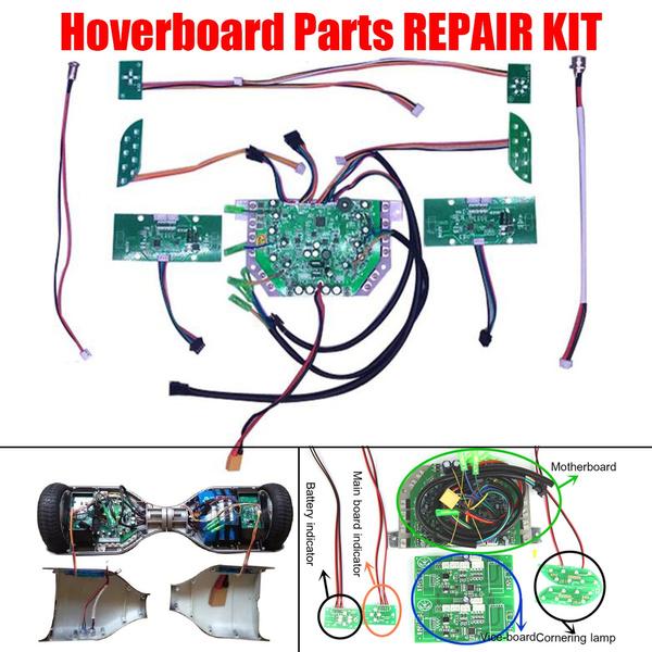 Hoverboard Parts Repair Kit Sweg Balance Board Gyro PCB Main Board LEDs  Charger