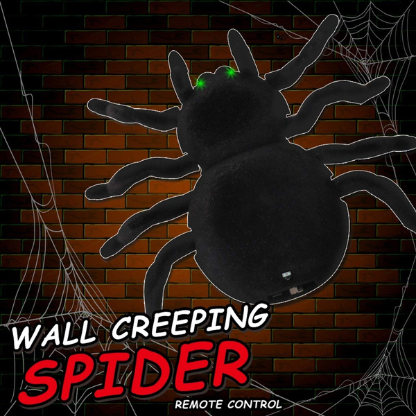 Scare RC Creepy Wall Climbing Spider Remote Control Prank Funny Toys Gifts