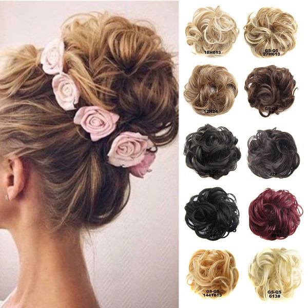 Wish Natural Curly Messy Bun Hair Piece Scrunchie Real Thick Hair