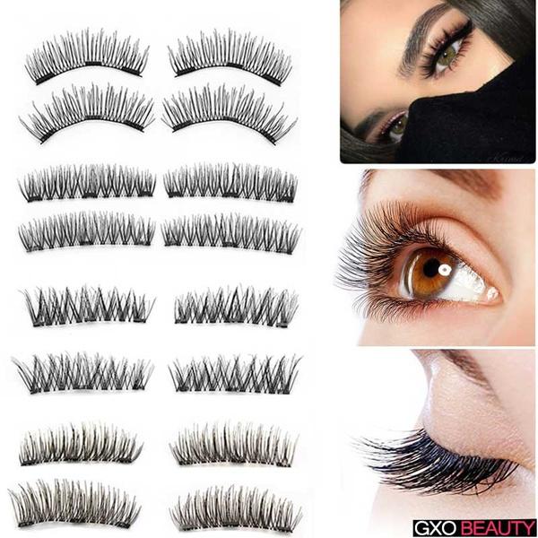 cb657e3ee5c Fashion 3D Magnetic False Eyelashes Natural Soft Eye Makeup 4pcs/set ...