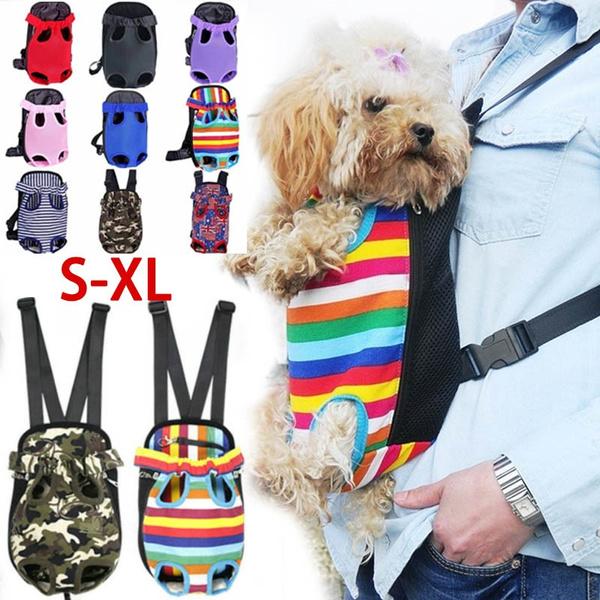 Nylon Mesh Pet Puppy Dog Cat Carrier Backpack Front Net Bag Tote Sling Carrier