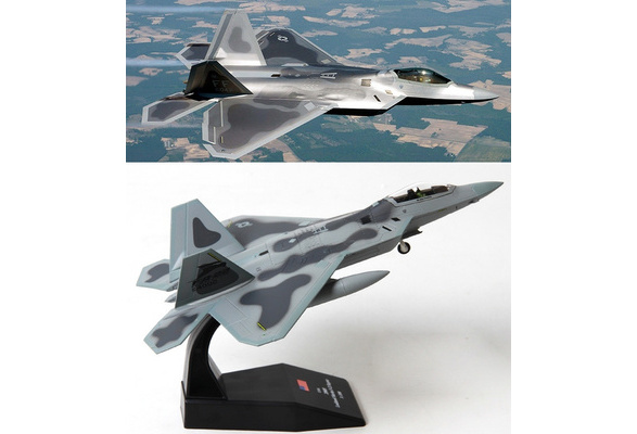 Terebo 1:100 Scale Military Model Lockheed Martin F-22 Raptor Fighter  Aircraft Model Plane Toy For Souvenir Collection Gift Home Office Decoration