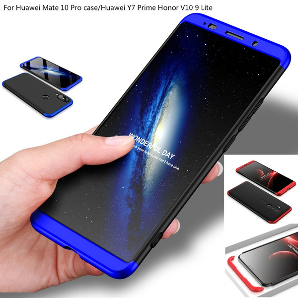new style 20fe5 95ee1 FUHAI For Huawei Mate 10 Pro case cover Luxury 360 full protect hard PC 3  in 1 back cover for Huawei Y7 Prime 2018 Honor V10 9 Lite Three-segment ...