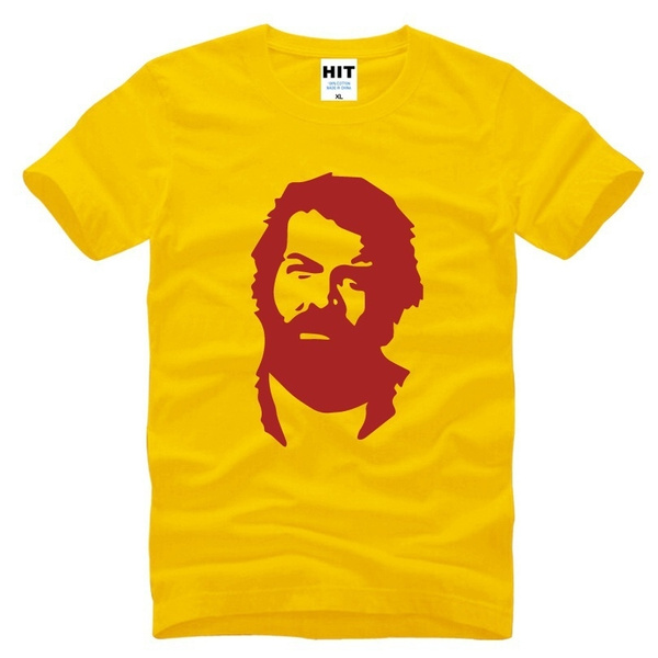 Bud Spencer Konterfei Official T Shirt The Old School Fighters Und Terence Hill Mens T Shirt Cult Brand Tops Tees Cotton Shirt