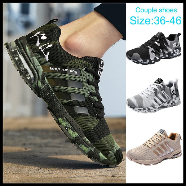 2fc543c21d Couple Shoes Summer Breathable Mesh Weaving Camouflage Running Shoes  Men/Women Fashion Sneakers Student Air Cushion Sports Shoes