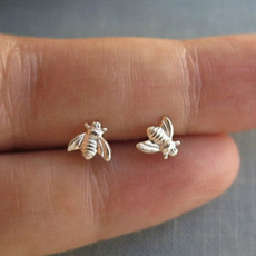 Sterling, bumblebeeearring, Jewelry, insectearring