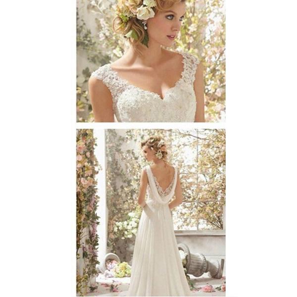 Wish | 2018 New Romantic Beach A-line Wedding Dresses Maternity Cap ...