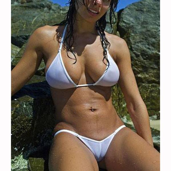 See through bikini