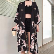 yukata, womenbathrobe, longoutwear, Vintage
