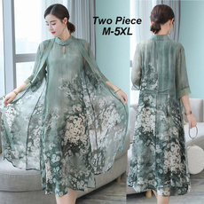 fashion women, middlesleeve, Floral print, Sleeve