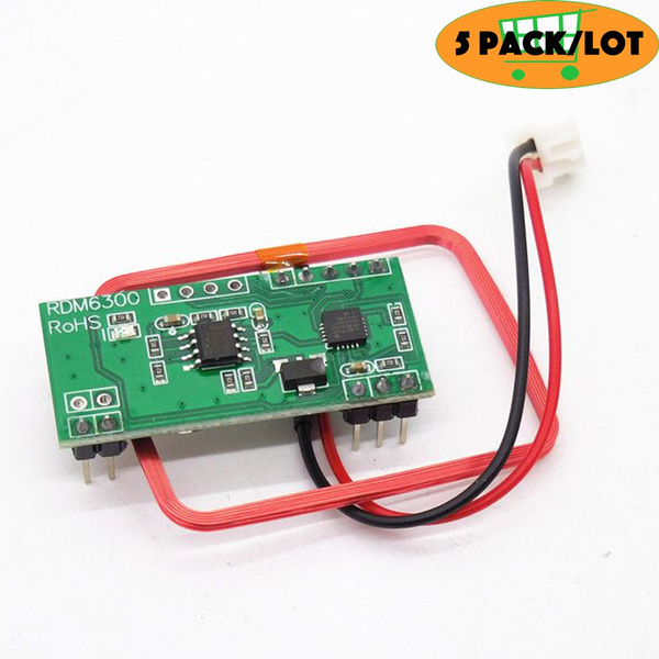 5pack/lot RDM6300 125Khz RFID Reader Module RDM6300 UART Output Access  Control System for arduino Diy Kit