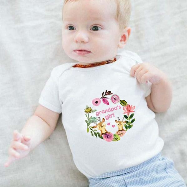 f565eb231 Grandpa's Girl Onesie Baby Girl Newborn Casual Grandpa Baby Shirt ...