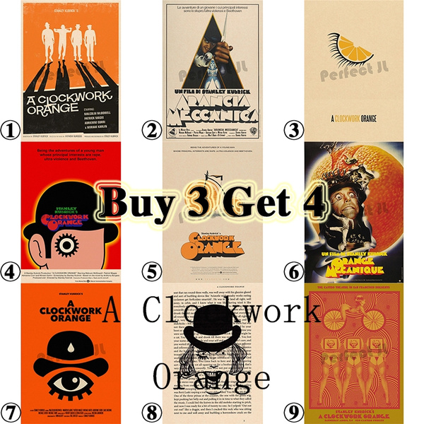Movie Retro Poster A Clockwork Orange Series 1 Adornment Vintage Anime Posters And Prints Living Room Decorative Painting Core