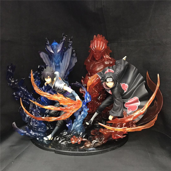 Anime Naruto Shippuuden Uchiha Itachi /& Uchiha Sasuke PVC Figure New In Box