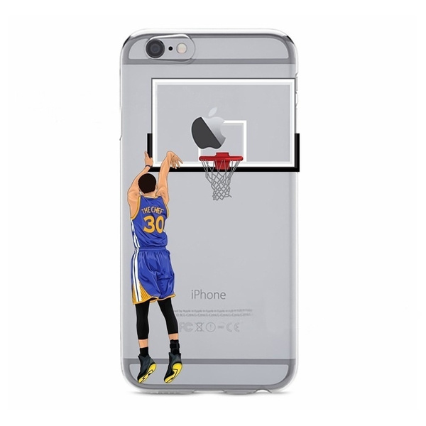 uk availability cd1e1 261a3 Basketball Sport Scorer Curry Pattern Transparent Phone Cases for IPhone 5  5s 6 6s 7/7Plus