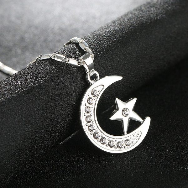 Arab Muslim Islam totem Allah Allah Moon Stars necklace Color retention  accessories