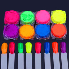 Nails, Beauty, pigmentpowder, Neon