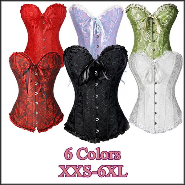 corset top, strapless, Plus Size, corsets black