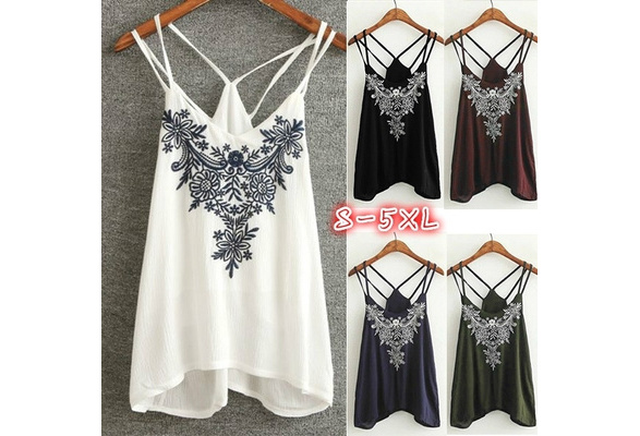 5 Color Summer Women's Fashion Sexy Deep V-neck Spaghetti Strap Tops Casual Cotton Printed Tank Tops Graphic Tees Slim Fit Female Shirt
